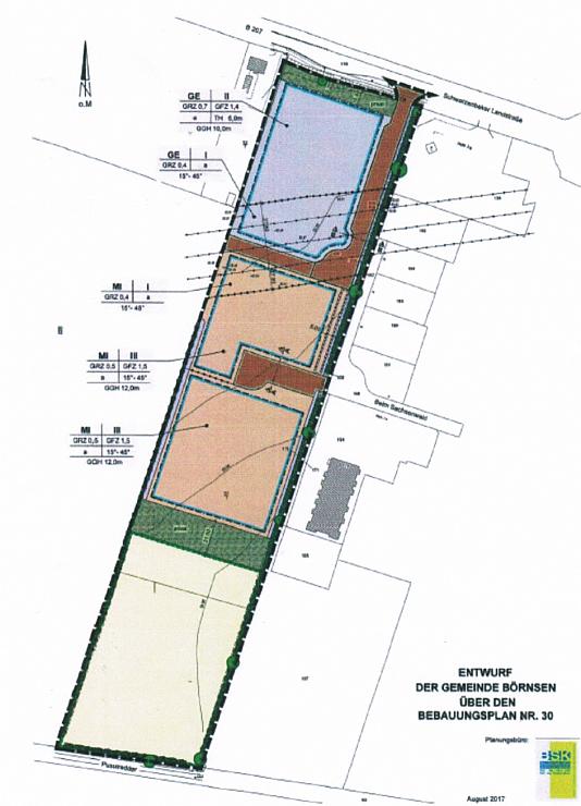 Entwurf der Gemeinde Börnsen über den Bebauungsplan Nr. 30
