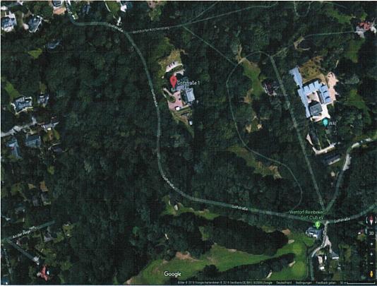 Google Maps Ansicht auf Grundstück