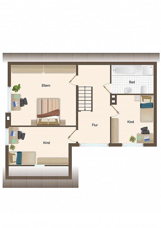 Haus 1 - Dachgeschoss