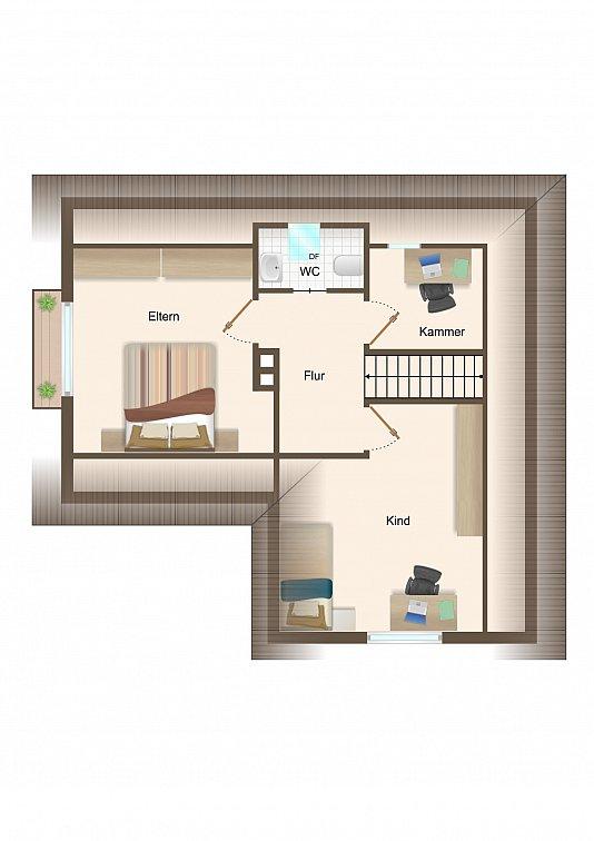 Haus 2 - Dachgeschoss