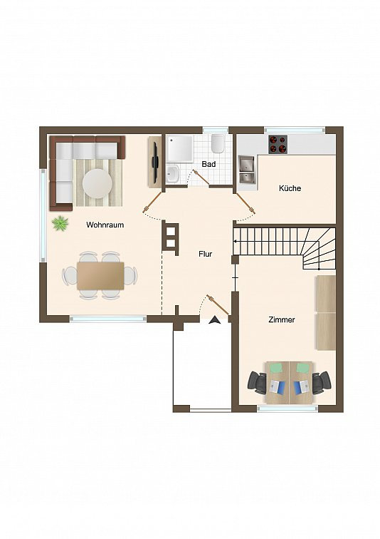 Haus 2 - Erdgeschoss