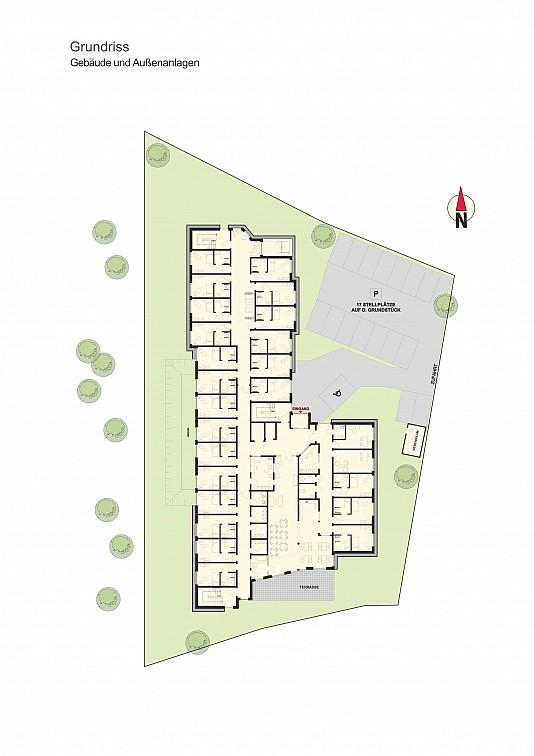 Grundriss_Gebäude und Außenanlage